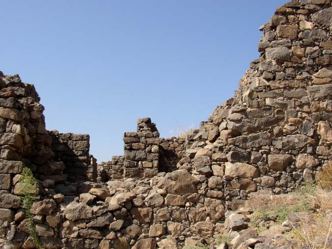 The breach in the wall at Gamal, where Roman forces entered the city