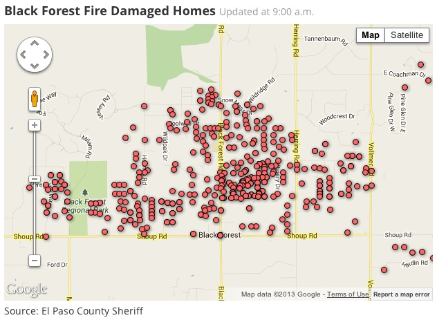 damaged homes