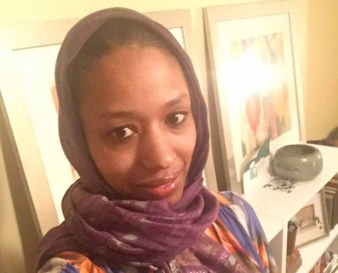Dr. Larycia Alaine Hawkins wearing a hijab for Advent, in solidarity with Muslims
